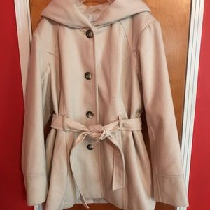 Heavy Winter Hooded Pea Coat